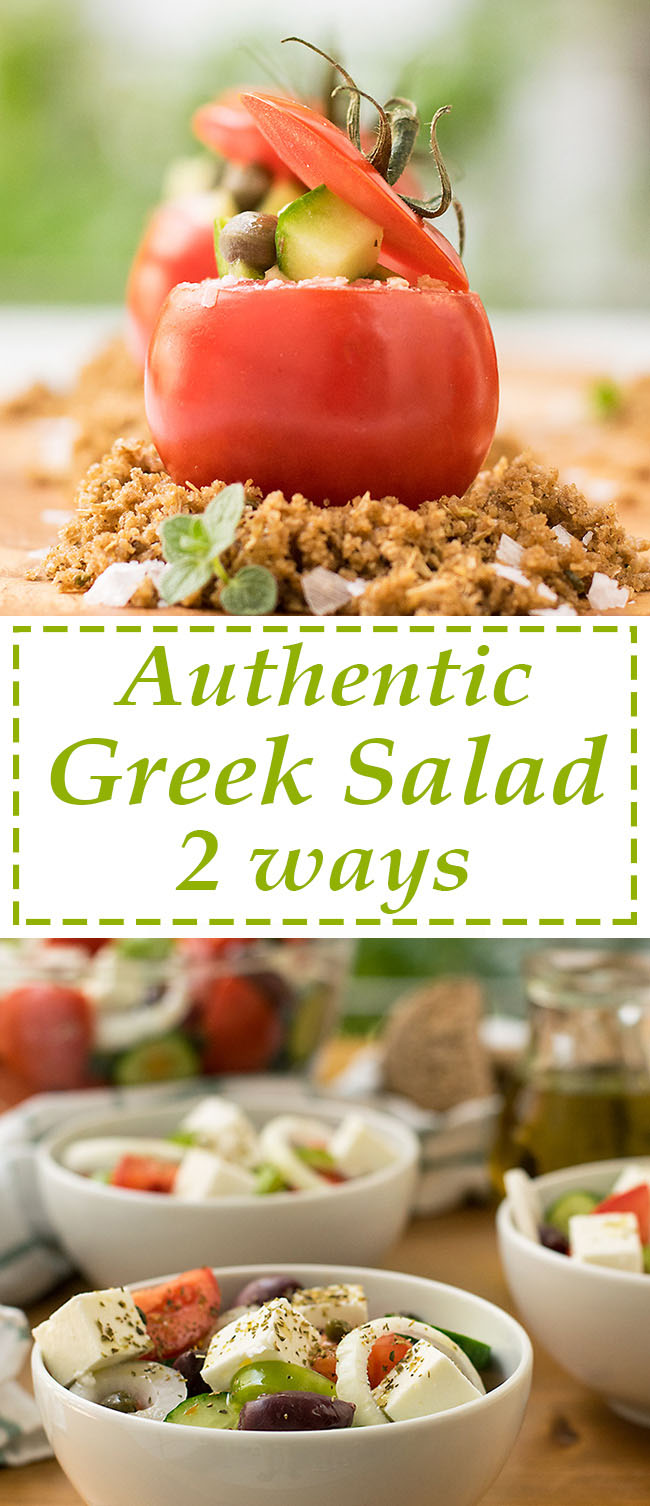 Authentic Greek Salad 2 ways 8