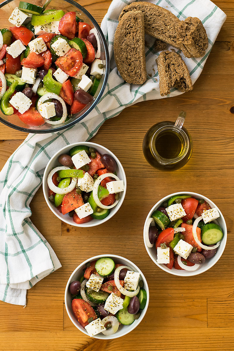 Authentic Greek Salad 2 ways