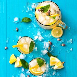 Rosebud syrup lemonade f
