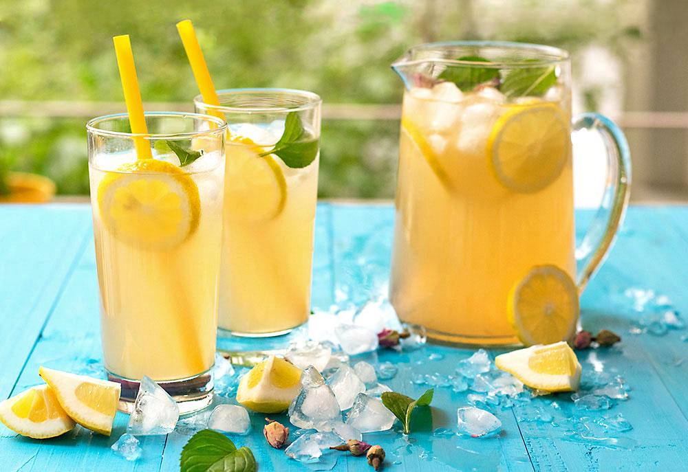 Rosebud syrup lemonade 2
