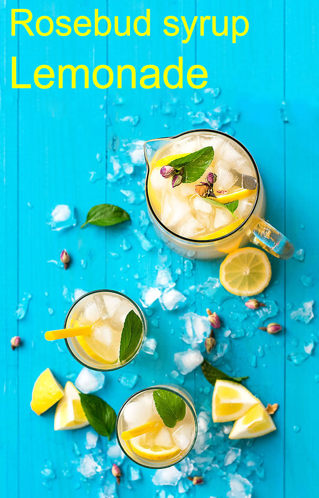 Rosebud syrup lemonade 5