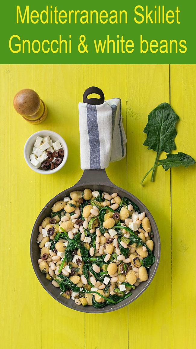 Mediterranean skillet gnocchi with white beans & spinach 5