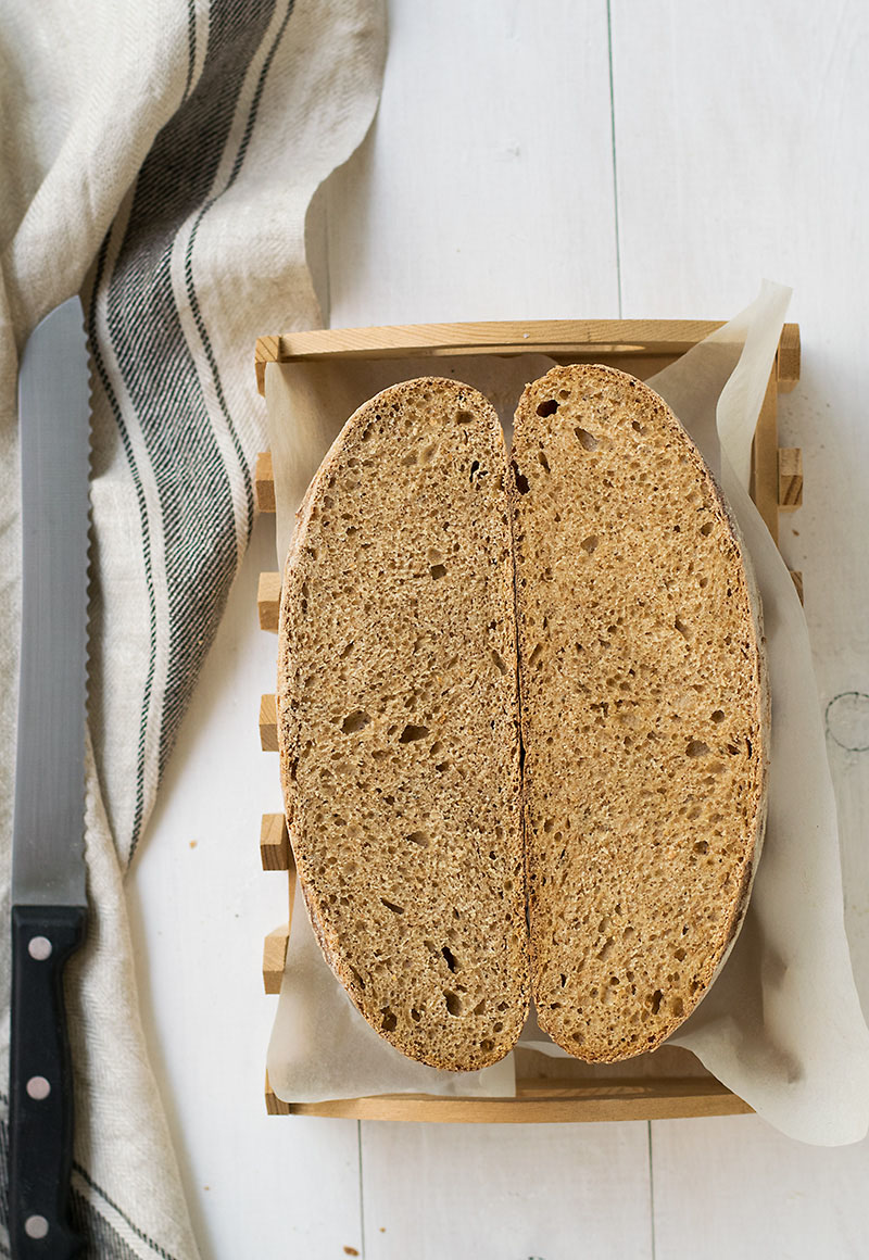 Raisin water starter sourdough bread 5