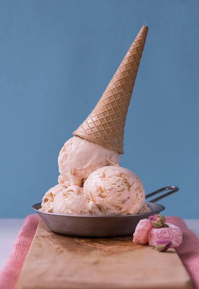 Turkish delight no-churn ice cream 4
