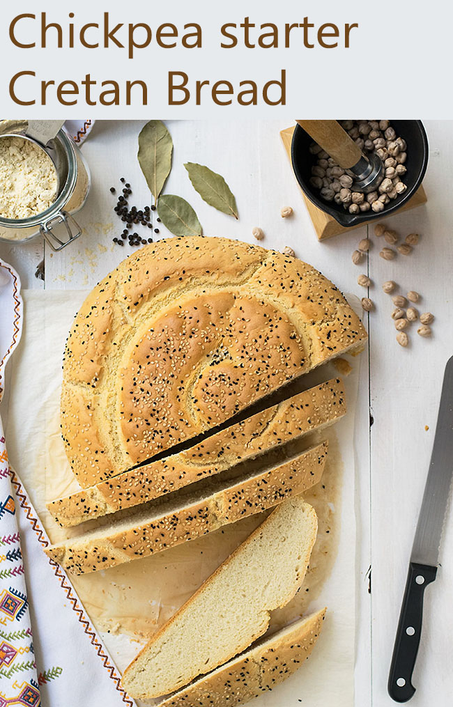 Chickpea Starter Cretan Traditional Bread (Eftazimo) 10