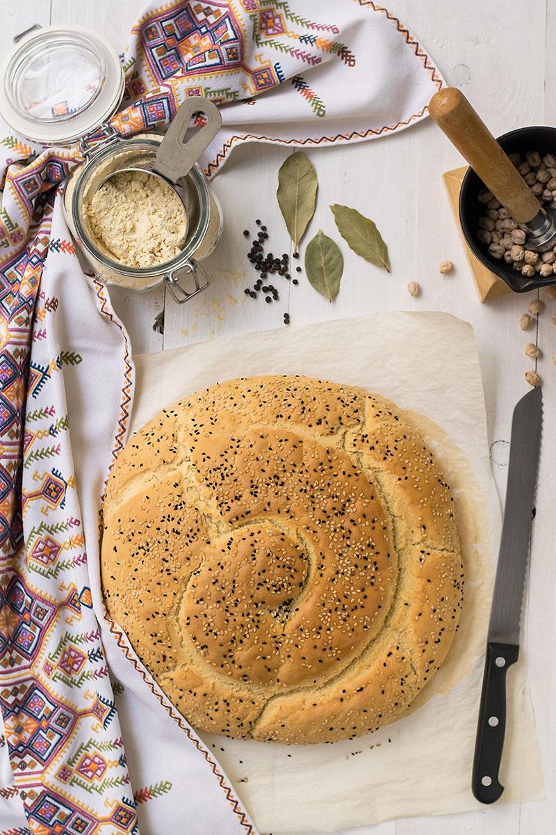 Chickpea Starter Cretan Traditional Bread (Eftazimo) 6