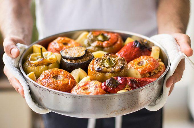 Meatless Greek Stuffed Vegetables (Gemista) 1