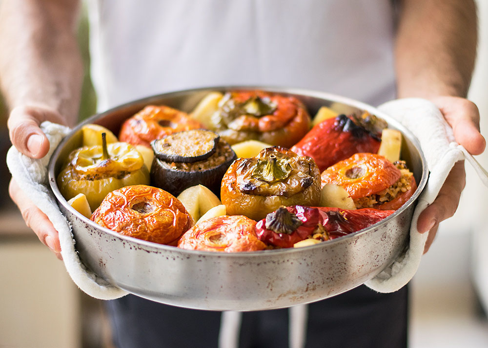 Meatless Greek Stuffed Vegetables (Gemista) 1
