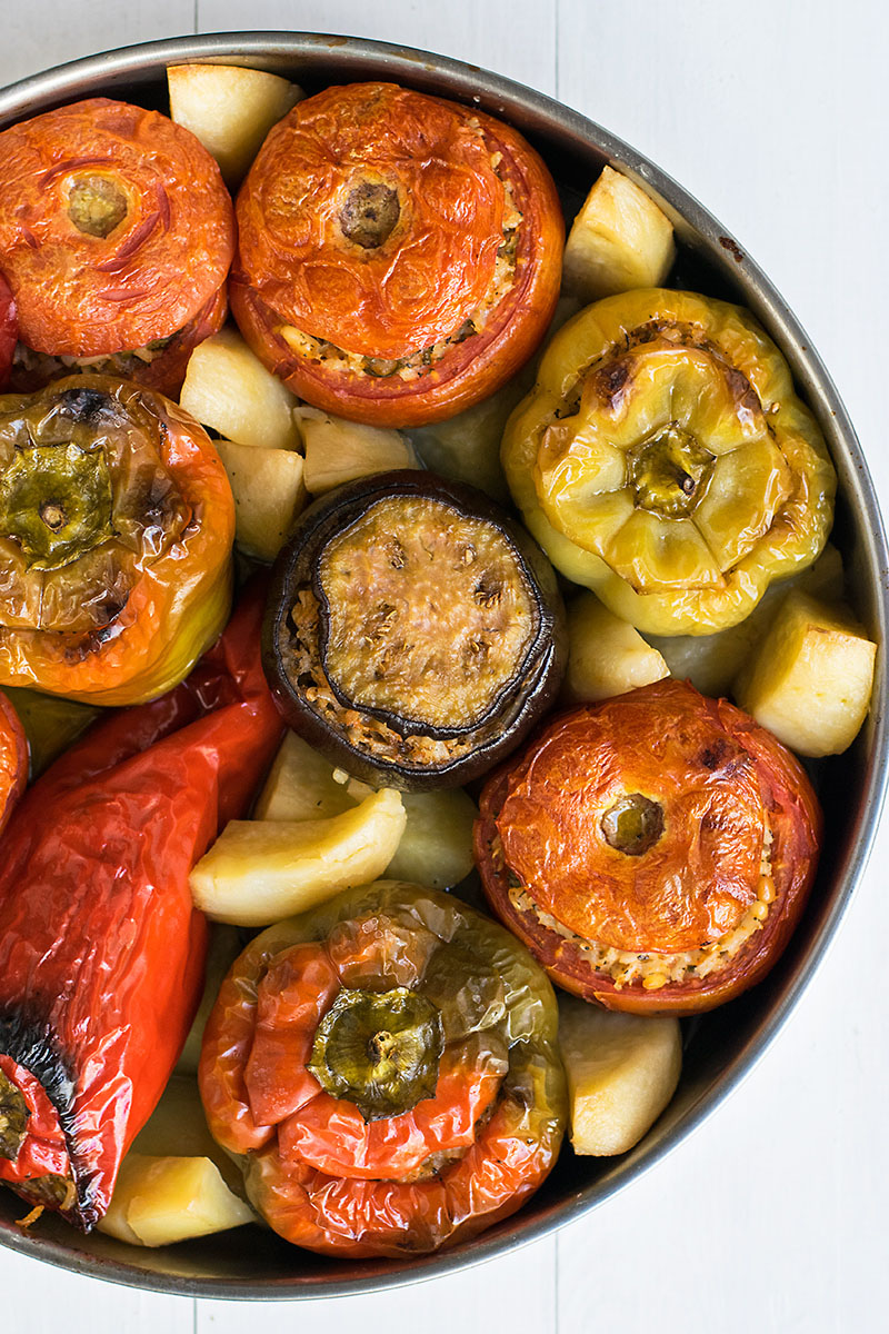 Meatless Greek Stuffed Vegetables (Gemista) 2