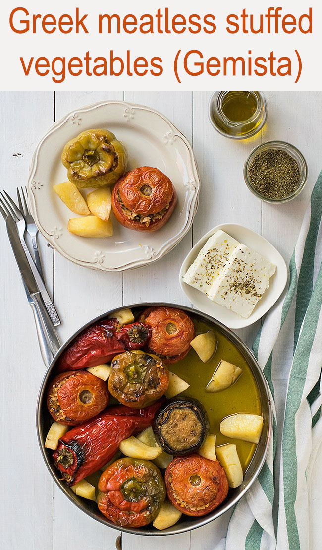 Meatless Greek Stuffed Vegetables (Gemista) 6