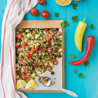 Mediterranean bulgur & lentil lunch salad f