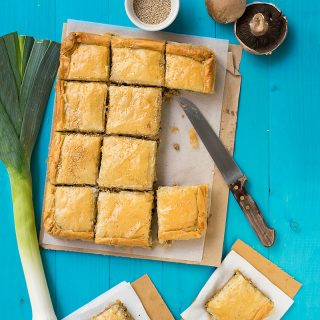 Mediterranean minced meat phyllo pie (kimadopita) f