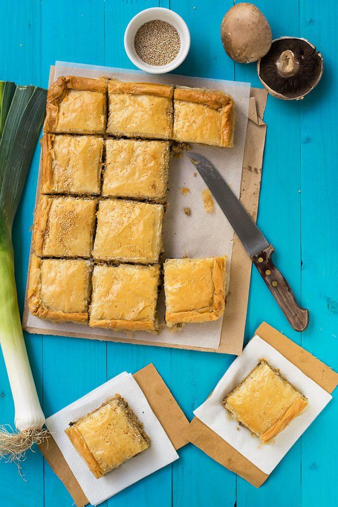 Mediterranean minced meat phyllo pie (kimadopita)