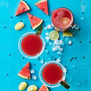 Watermelon & feta margarita f