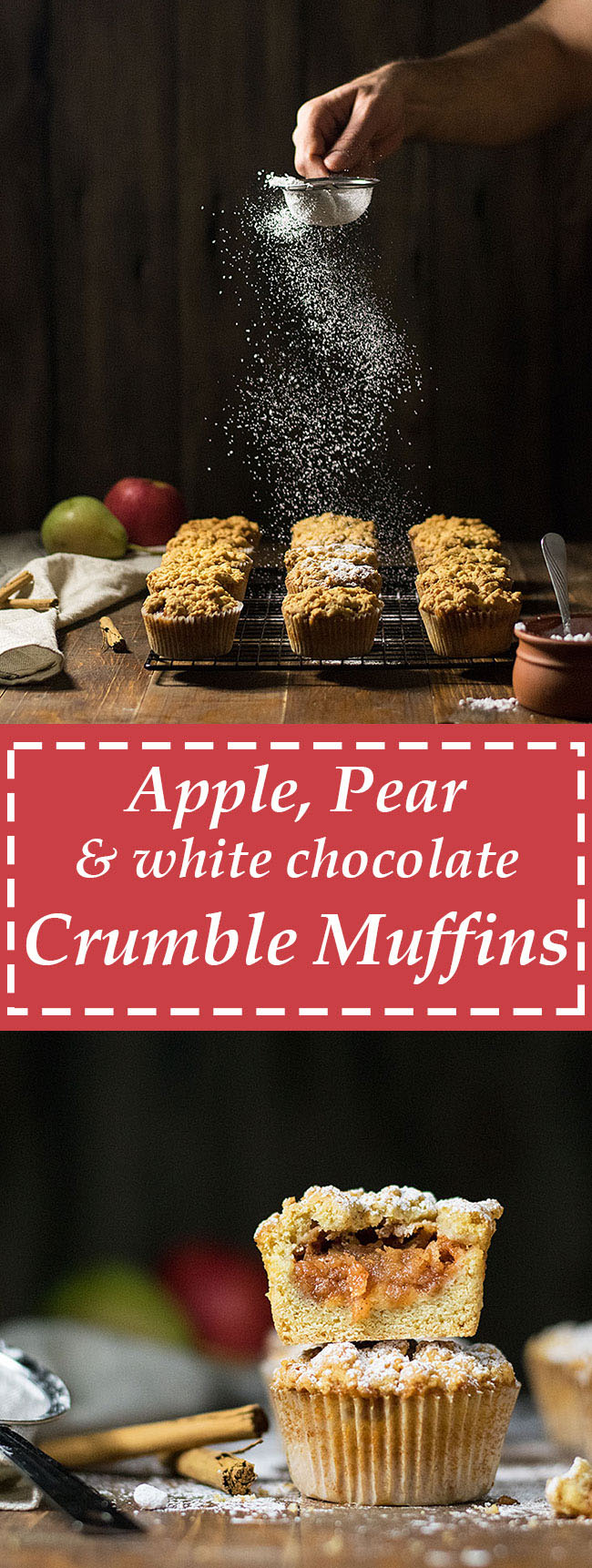 White chocolate and apple crumble muffins 6