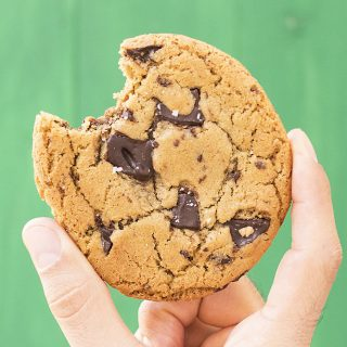 Big, soft & chewy tahini – olive oil chocolate chunk cookies f