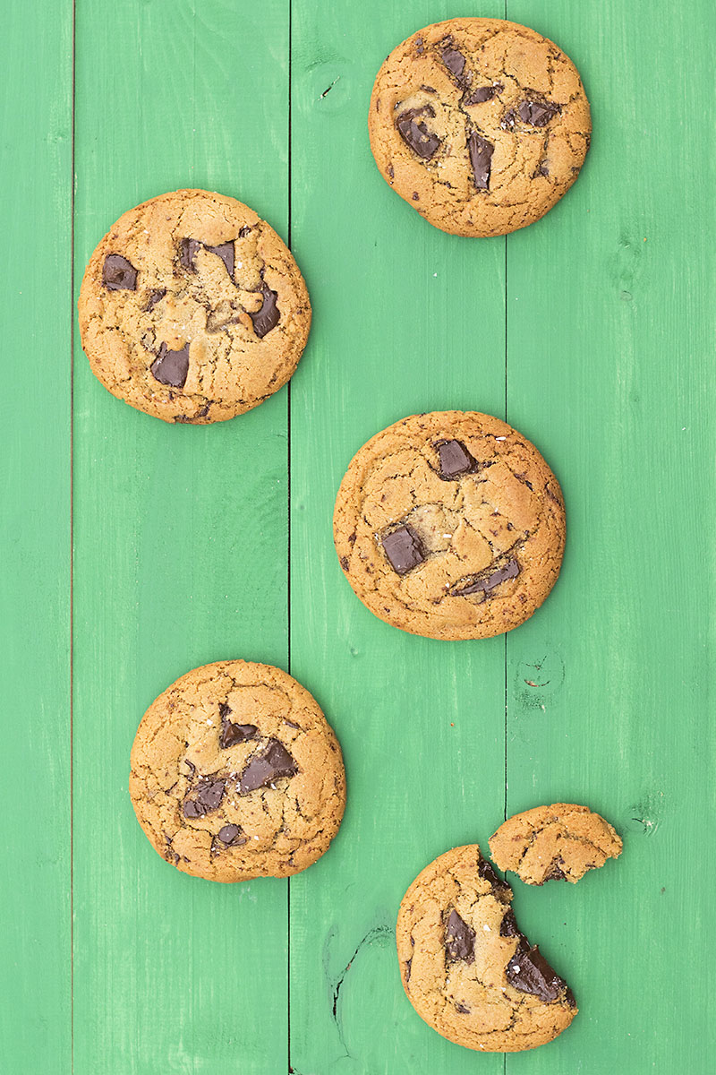Big, soft & chewy tahini – olive oil chocolate chunk cookies 7