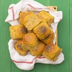 Moist, fluffy olive oil & pumpkin dinner rolls f2