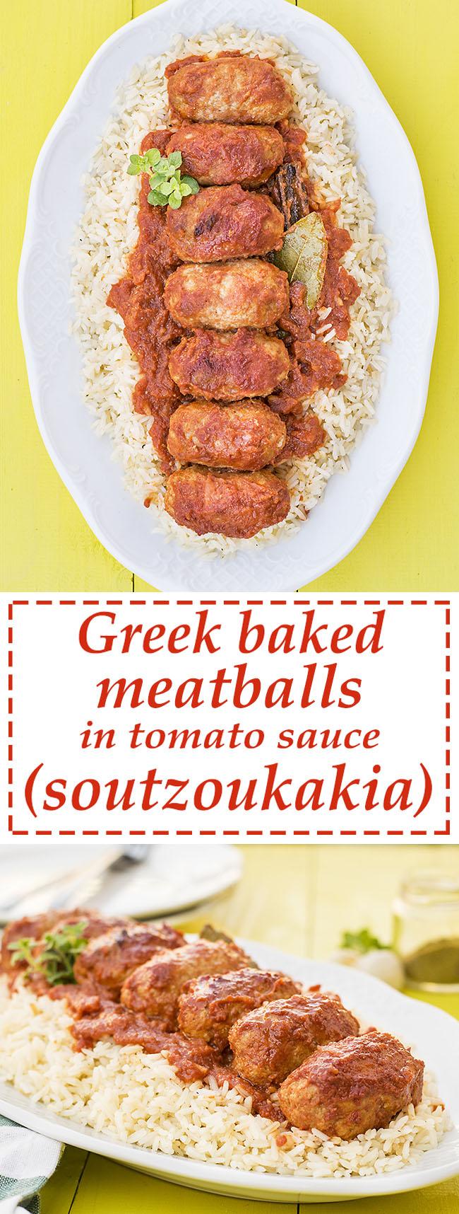 Greek baked meatballs in tomato sauce (soutzoukakia) 5