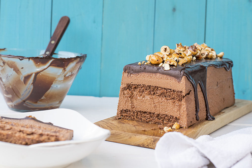 Chocolate & candied hazelnut mousse cake 2