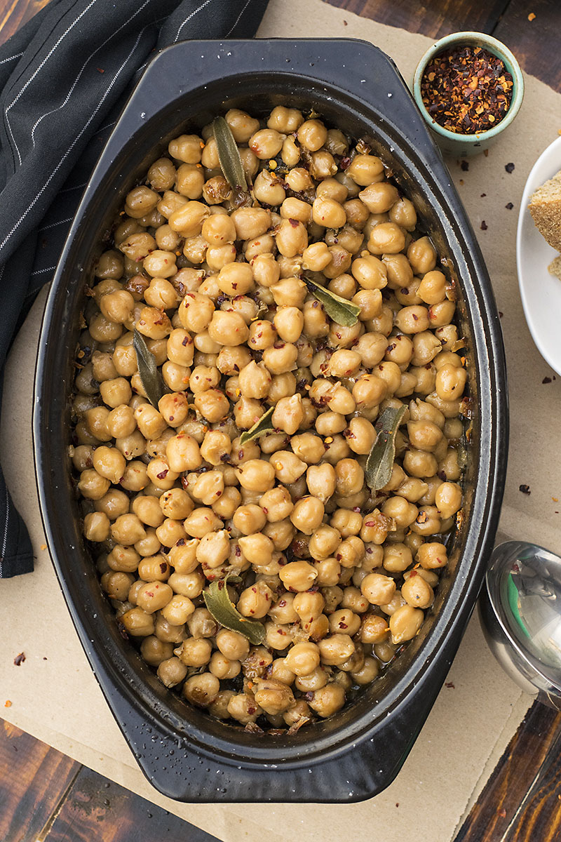 Greek traditional baked chickpeas (Revithada) 2