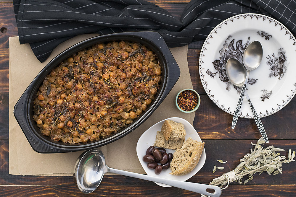 Greek traditional baked chickpeas (Revithada) 6