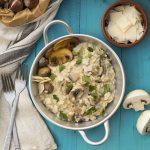 Mushroom & chestnut creamy risotto f