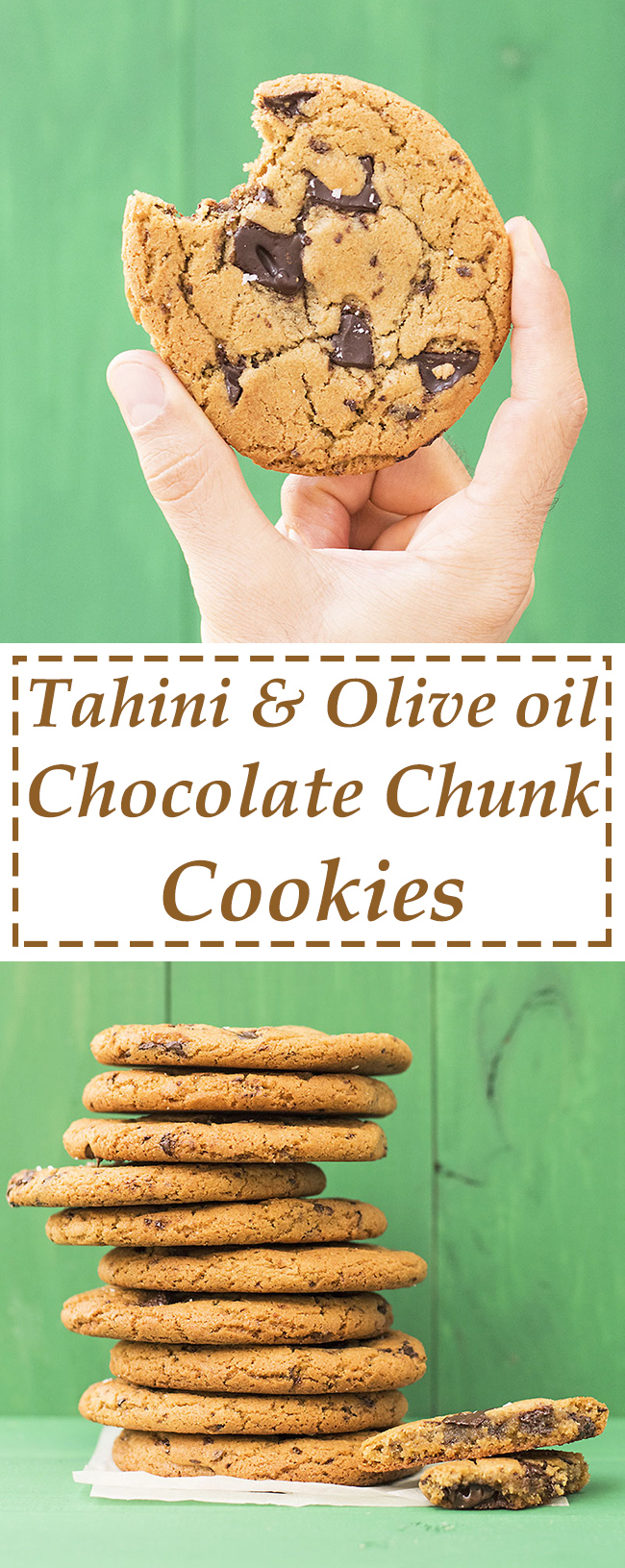 Tahini and olive oil Chocolate chunk cookies