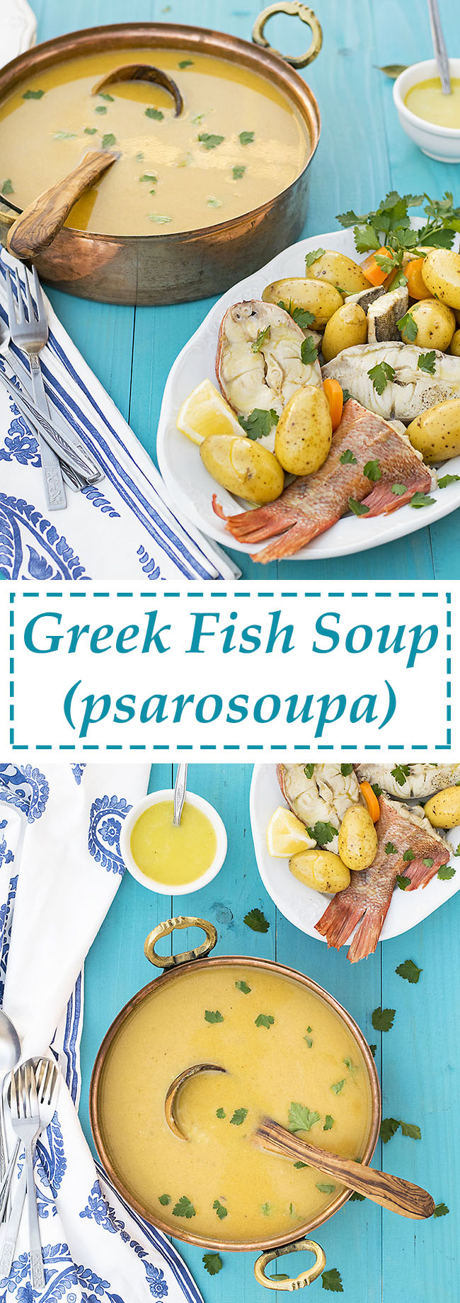 Greek fish soup with potatoes & vegetables (Psarosoupa) 6