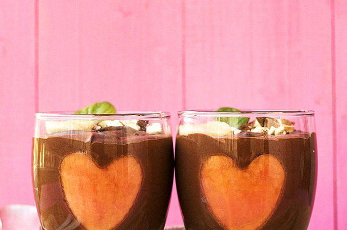 Almond milk & chocolate vegan mousse 2 ways feat