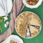 Vegan savory pie with vegetables and red bean puree f2