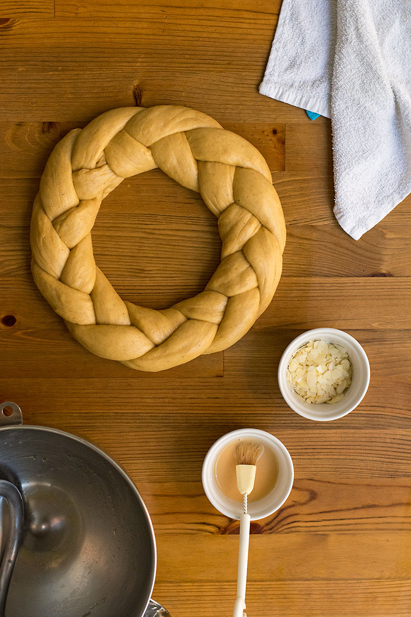 Greek Easter sweet bread with olive oil (Tsoureki) 5
