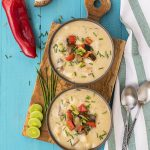 Mediterranean creamy potato and mushroom soup (Vegan)