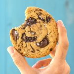 Vegan olive oil and tahini chocolate chunk cookies f