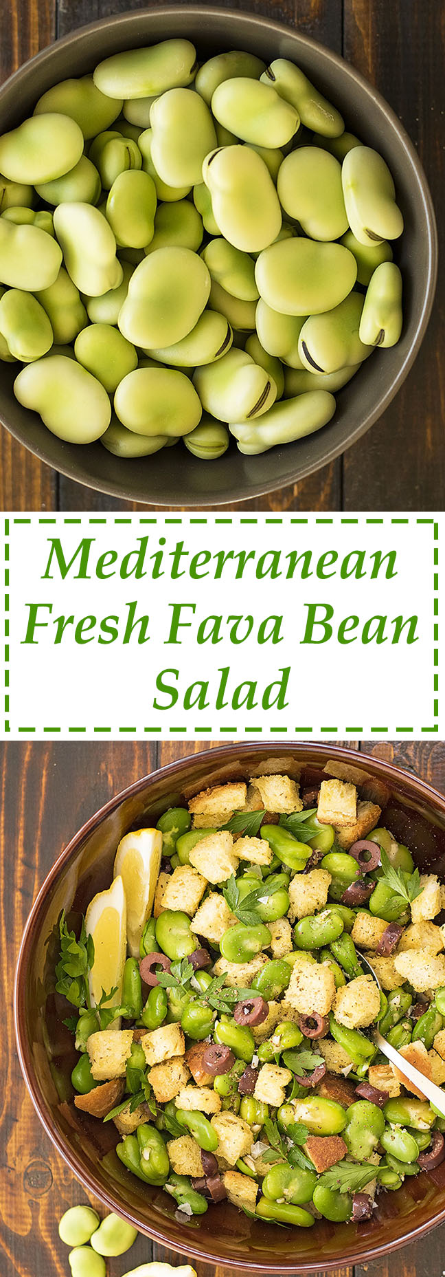 Fresh fava been salad and a fava spread – Vegan 8