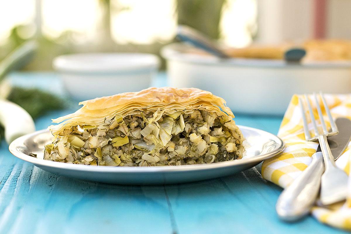 Mediterranean leek, fennel and barley pie (Vegan) 5