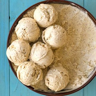 Roasted almond & white chocolate no-churn ice cream f