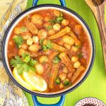 Greek gumbo with okra, gnocchi & chickpeas (vegan) featured