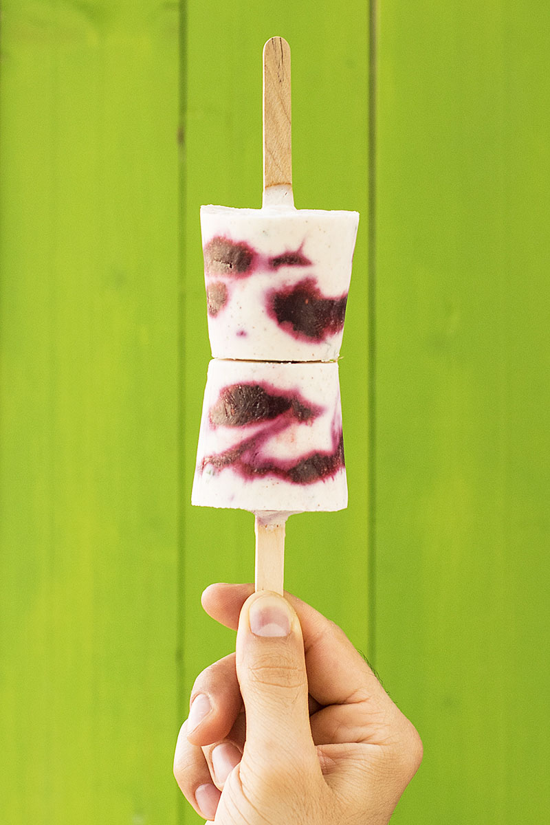 Minty Greek yogurt fruit popsicles 6