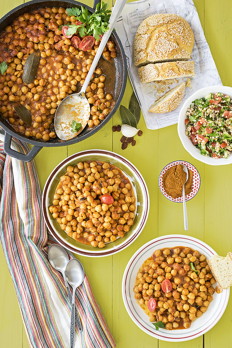 Easy Moroccan chickpea stew 2