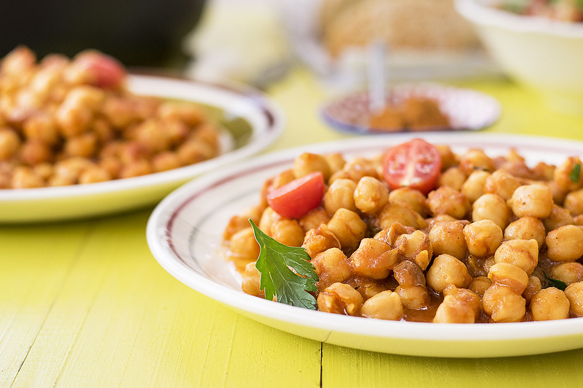 Easy Moroccan chickpea stew 4