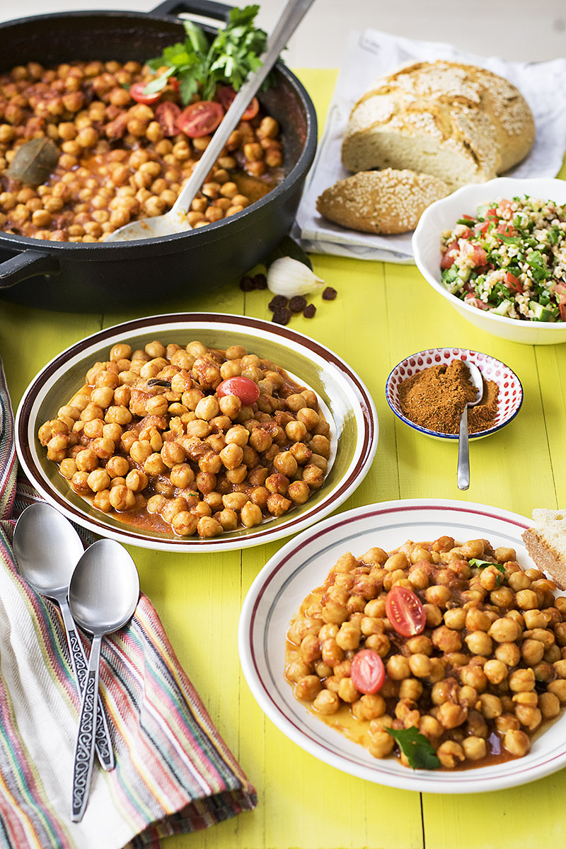 Easy Moroccan chickpea stew 5