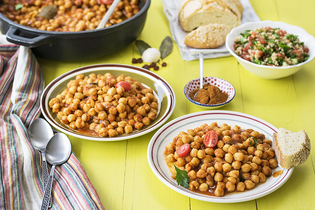 Easy Moroccan chickpea stew 6
