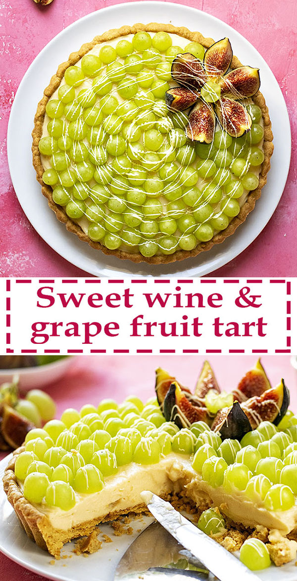 Sweet wine & grape fruit tart with easy olive oil crust 8