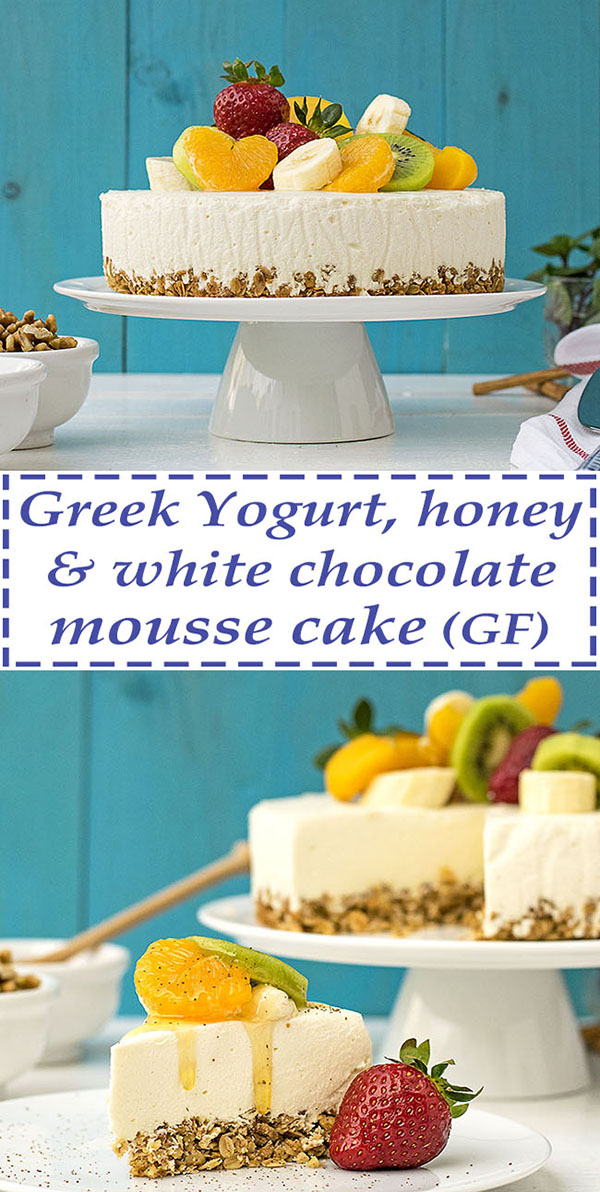 Greek yogurt and white chocolate mousse cake 5