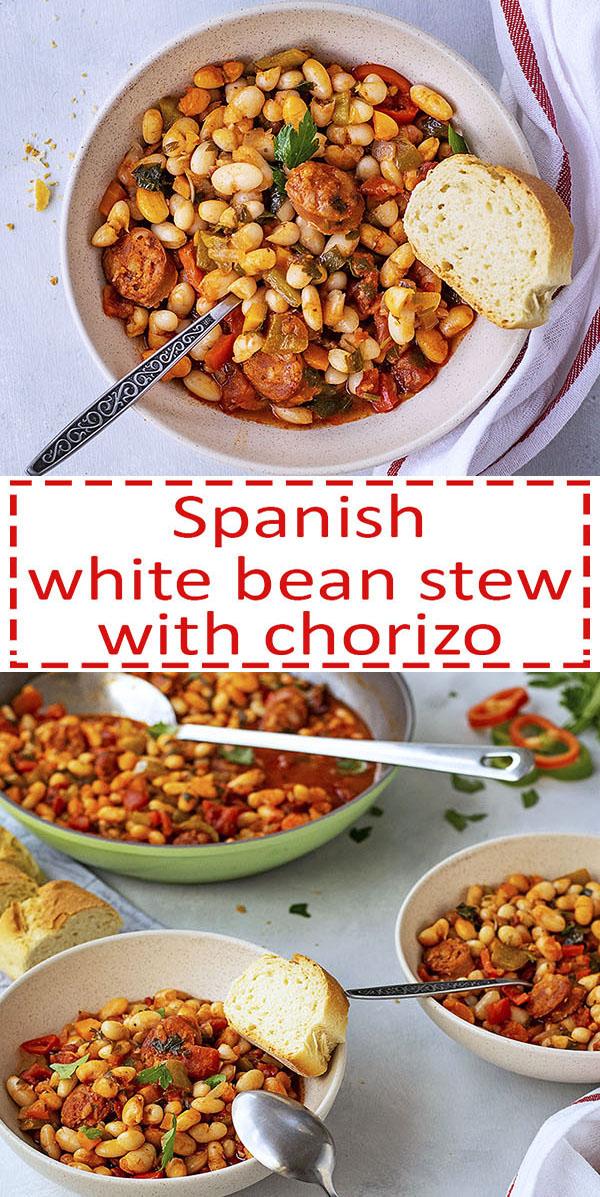 Spanish white bean stew with chorizo sausage 8