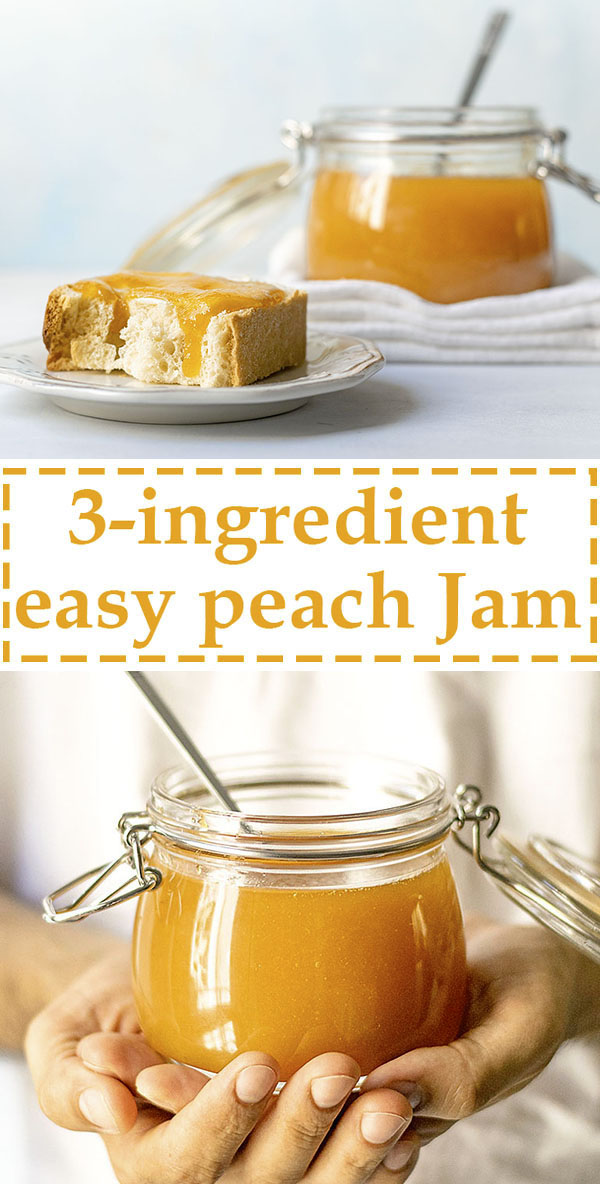 Small batch 3-ingredient easy peach jam 7