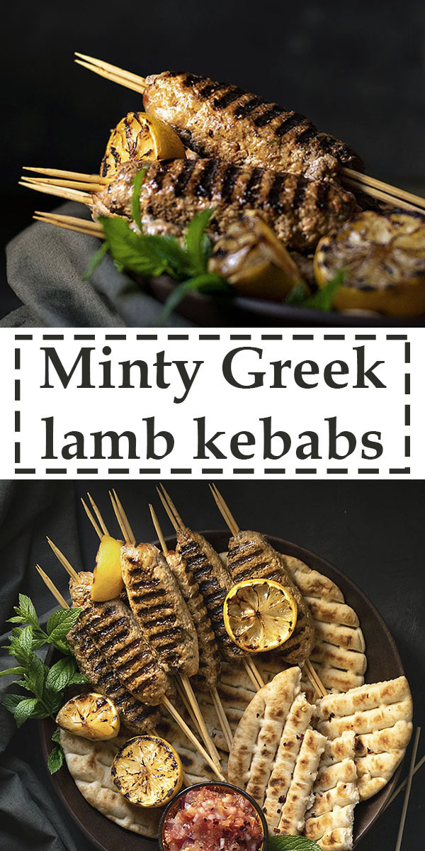 Minty Greek lamb kofta kebabs with yogurt & tomato sauce 7