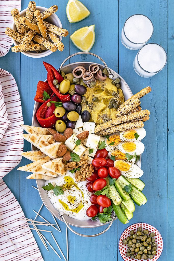 How to make a Greek meze platter