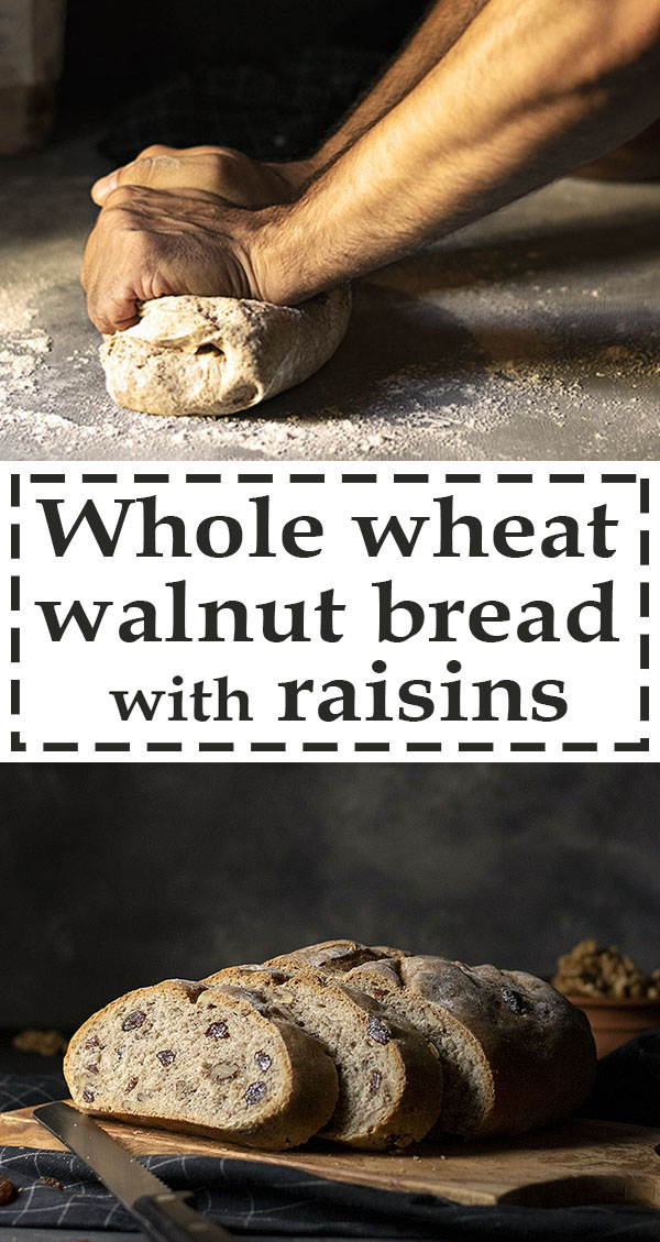 Easy whole wheat walnut - raisin bread (Vegan) 7